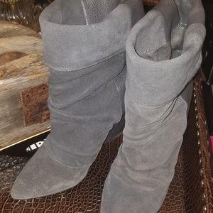 ShoeMint Grey Wedge Boots